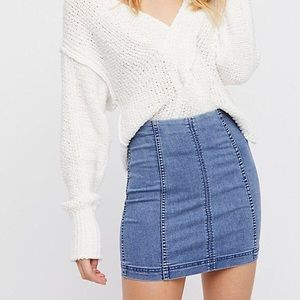 Free People moderne femme denim mini skirt